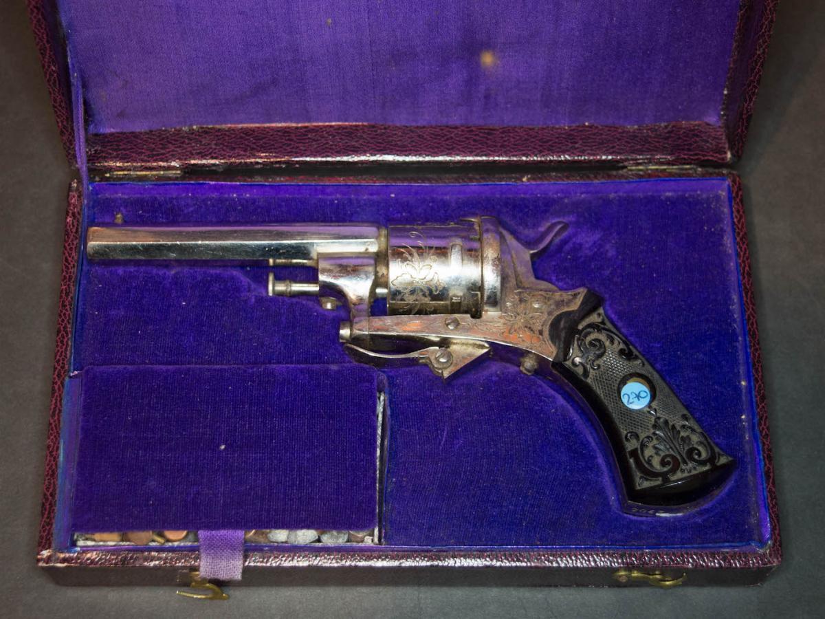 Revolver Pin System Lefaucheux, Six Strokes, Caliber 7mm.