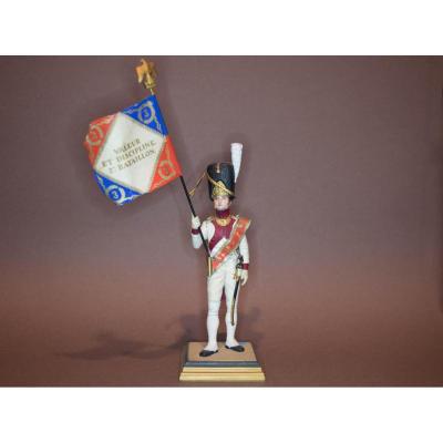 """Soldat G.fouille. """"porte Drapeau Du 3e Régiment Des Grenadiers à Pied De La Garde Impériale""""."""