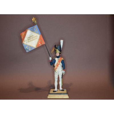"""Soldat G.fouille. Figurine Fine En Plomb. """"porte Drapeau Du Ier Régiment Des Grenadiers à Pied"""