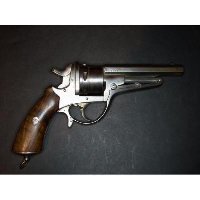 """Revolver Galand, Six Coups, Calibre 450. Canon à Pans, Frappé """"c.f.g."""" Sous Couronne."""