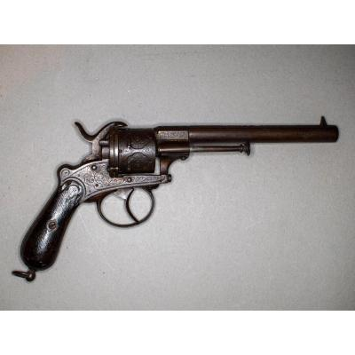 Revolver Pin Lefauchaux, Six Strokes, Caliber 9 Mm, Double Action.