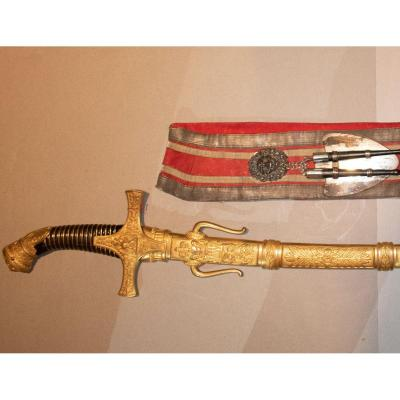 Major Drum Saber. Horn Handle With Double Watermark.