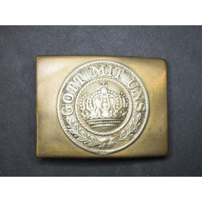 Belt Buckle Of The German Army, Crown And Currency