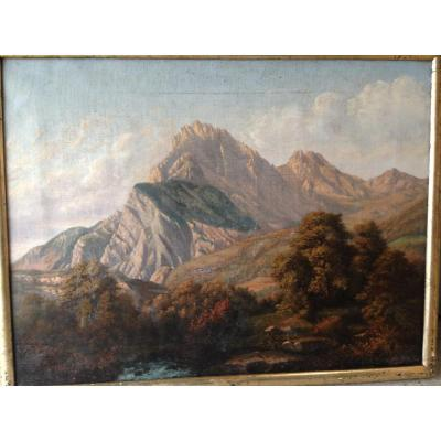 Mountains Landscape. All Beginning 19th Century