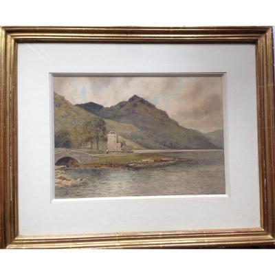 Peinture à l' Aquarelle De John Pedder, Datée 1886.