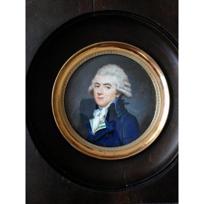 Remarquable Miniature Fin XVIIIème Attribuée à Charles Hénard.
