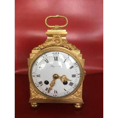 "Pendulum Dite ""officer"" In Bronze Style XVI By Lepaute"