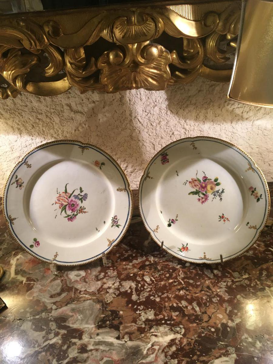 """""""plates Pair Of Porcelain, Paris End XVIII"""""""