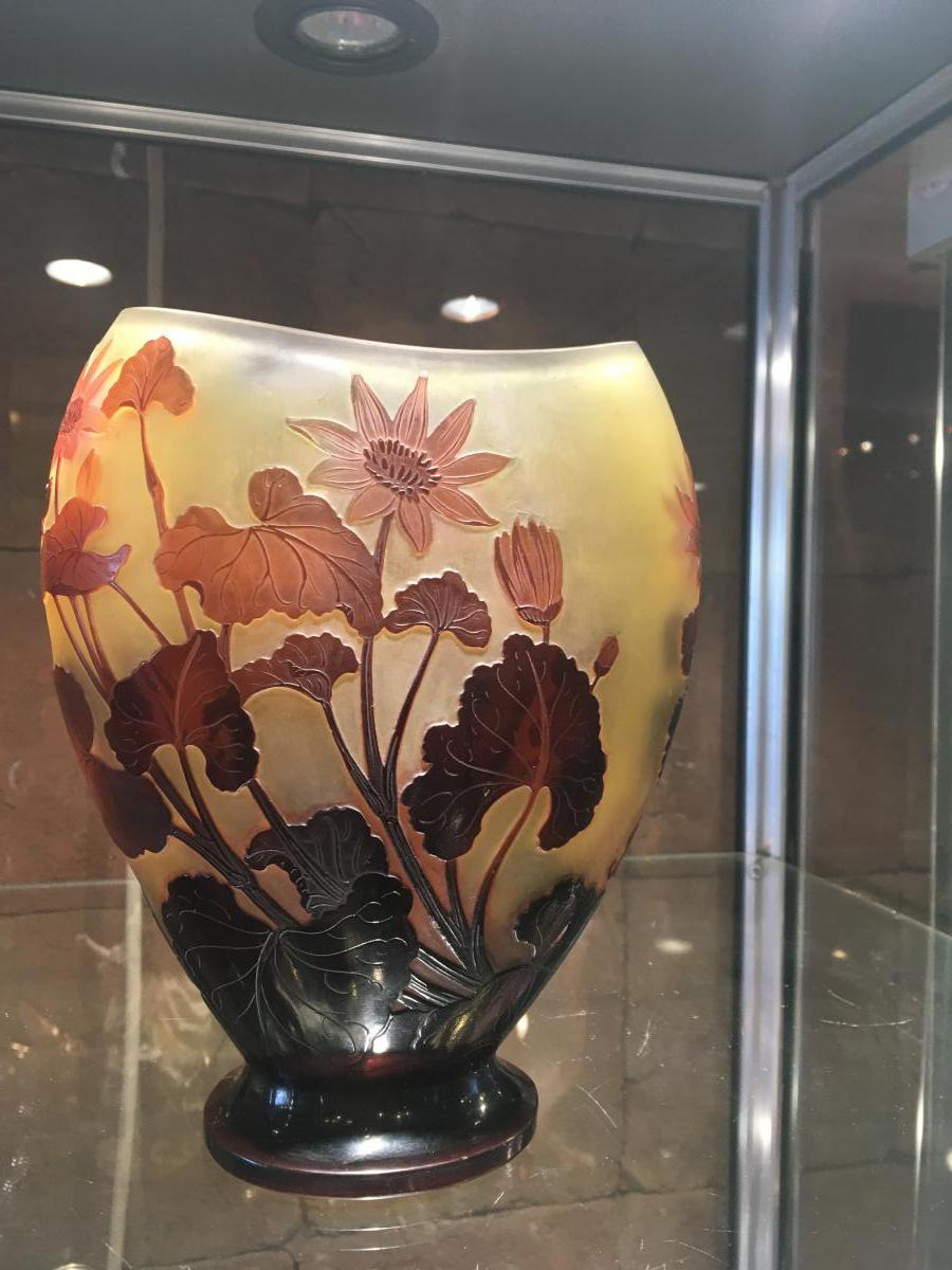 """vase De Gallé Oblong ( 1846-1904)"