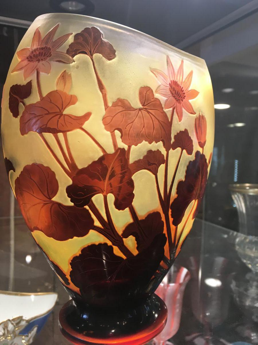 """gallé Vase From Oblong (1846-1904)"