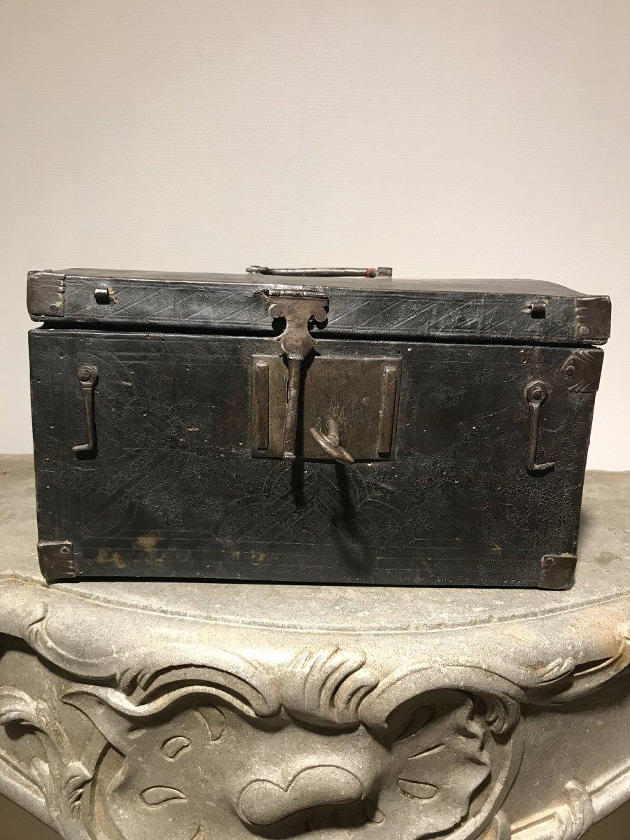 XVII Century Leather Wrapped Box
