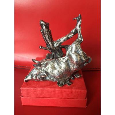 """"""" Bronze. Sanglier ( Le Retour De Chasse ) """""""