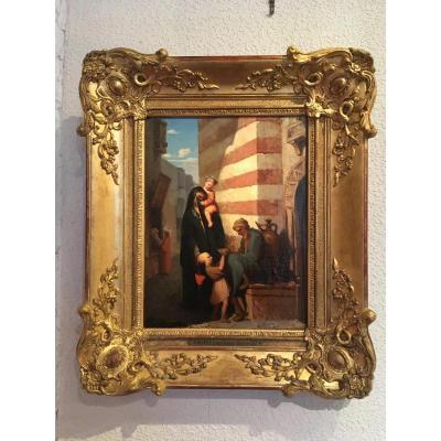 Scène Orientaliste , Fouquet Louis Vincent.»1803-1863»hst