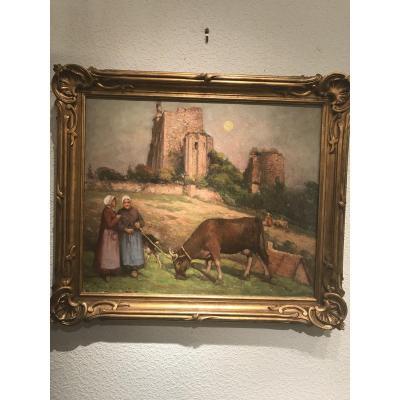 Fernand Maillaud «gardiennes De Vaches «