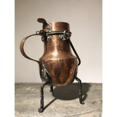 «grand Coquemar En Cuivre XVIII Siècle «