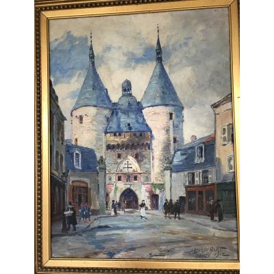 Huile Sur Toile «porte De La Craffe»nancy