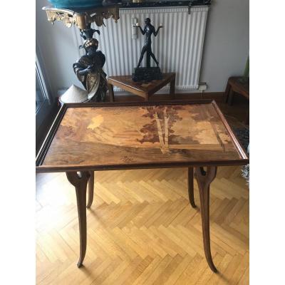 Table à Thé Art Nouveau Par Émile Gallé