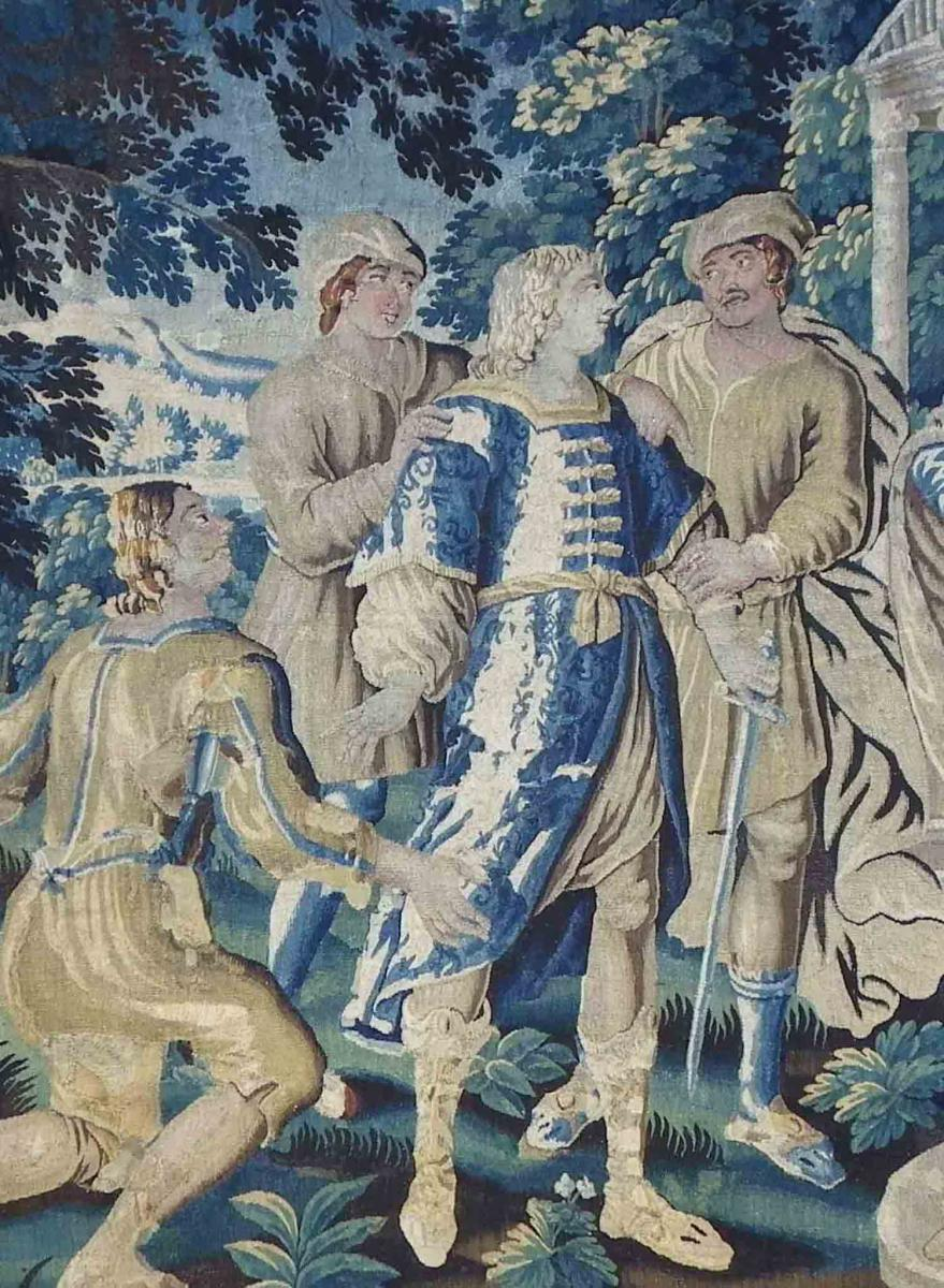 Tapisserie d'Aubusson Histoire d'Ariane  Fin XVII