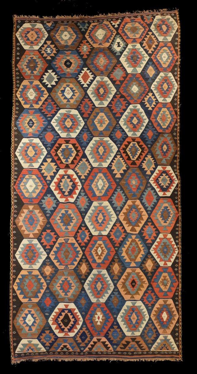 Kilim Véramine Perse Vers 1890