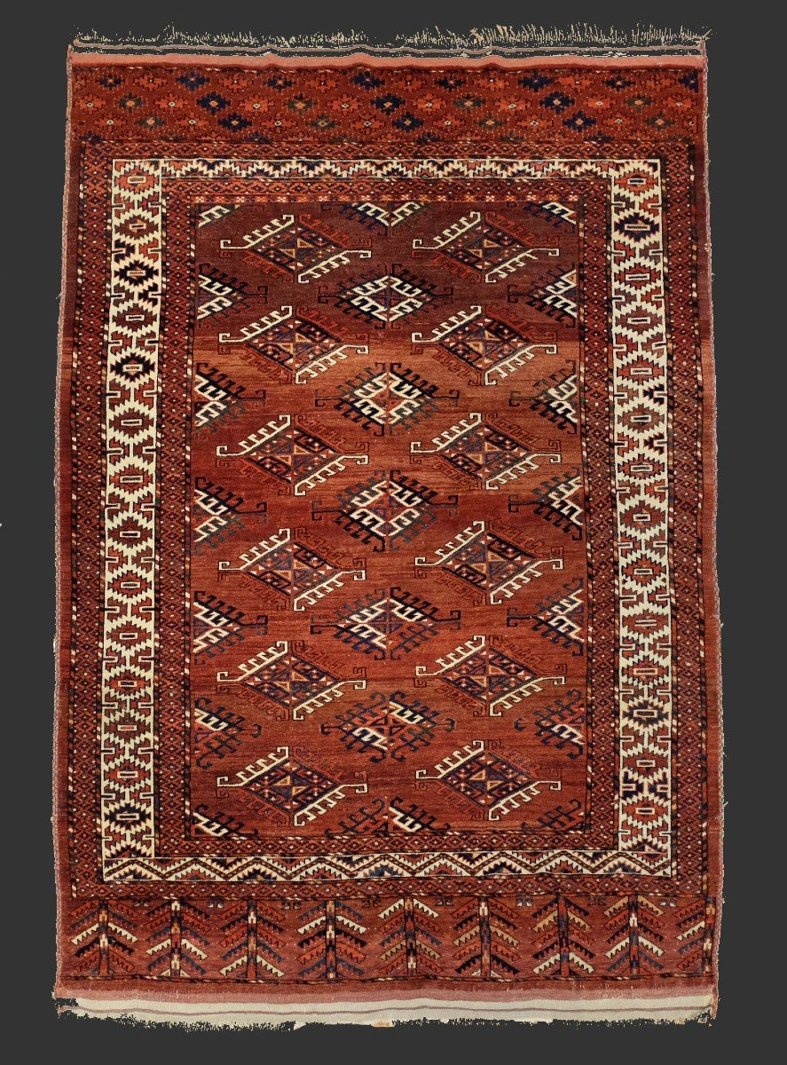Tapis Yamouth Asie Centrale Vers 1910