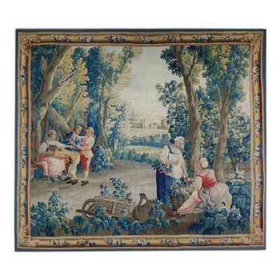 Aubusson Tapestry XVIII Bucolic Scene
