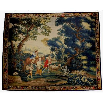 Tapestry De Lille Back Hunting Louis XV