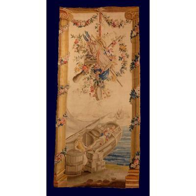 Tapisserie Aubusson Louis XVI  Scène Marine
