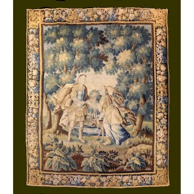 Aubusson Tapestry. Lovers. Late XVII Century