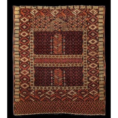 Carpet Turkmenistan Hatchlou Central Asia Around 1900