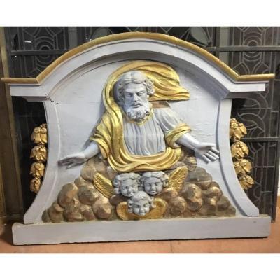 Panneau Sculpté Religieux XVIII Me
