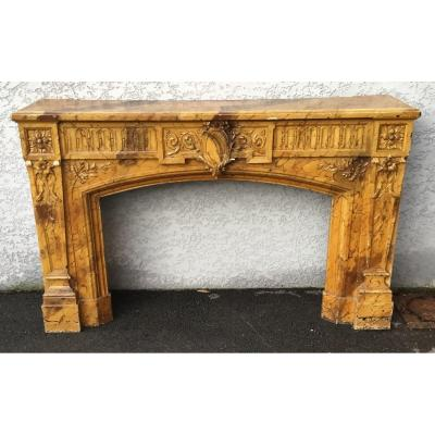 18th Century Wooden Fireplace