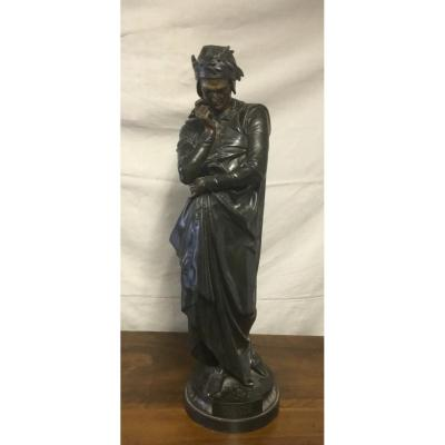 Large Spelter Sculpture Of Dante