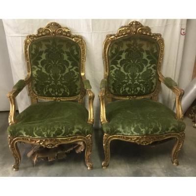 Pair Of Golden Armchair