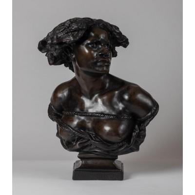 Buste En Plâtre Patiné