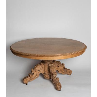 Importante Table En Bois De Chêne