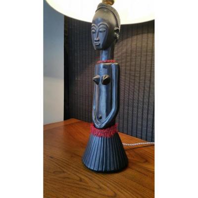 Lampe En Ceramique Africaniste