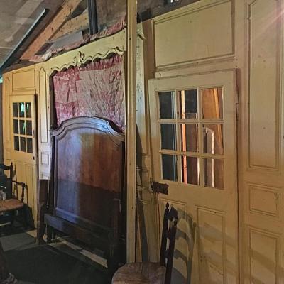 Boiserie Alcôve De Chambre d'époque Louis XV En Chêne