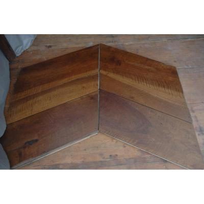 Parquet En Point De Hongrie En Noyer