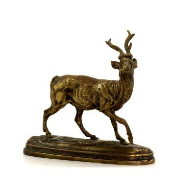 Animal Bronze Representing A Small Deer