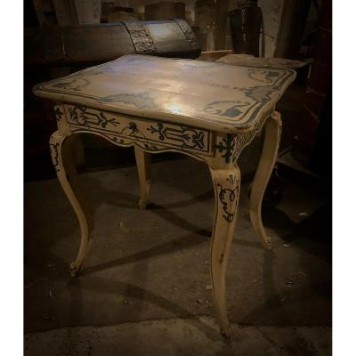 XIXth Cabaret Table In Painted Oak