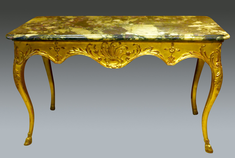 Gilded Wood Console Table Regence Period