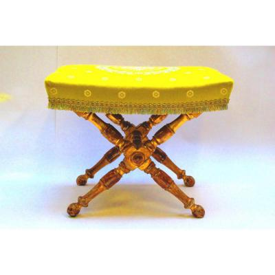 Ottoman, Turned Wooden Legs And Golden Empire Period End