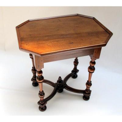 Table Noyer Dessus Cuvette - Valais - Epoque Louis XIV.