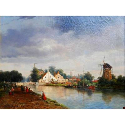 Justin OuvriÉ (1806-1879) - Ville Du Nord, Bord De Fleuve