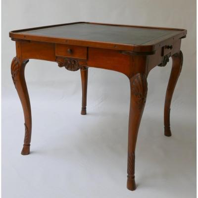 Table A Jeu En Noyer Lyon Epoque Régence