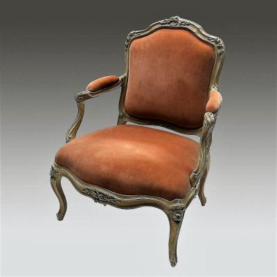 Louis XV Period Flat Back Armchair
