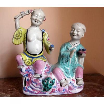 Ho -ho Porcelaine Polychrome Kien-long Chine XVIII°