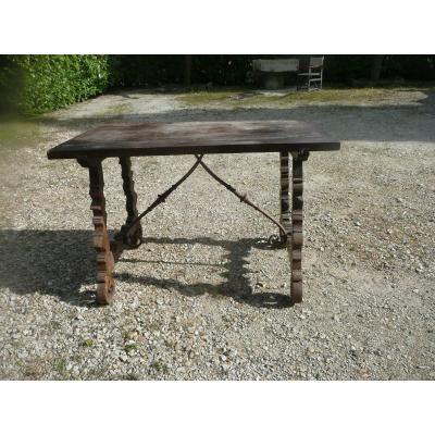 Table Espagnole  18ème En Noyer