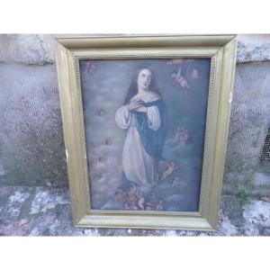 huile sur toile XVIIIème à Restaurer
