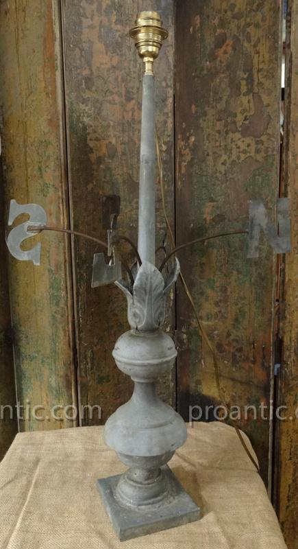 girouette lampe en zinc XIX° siècle-photo-4